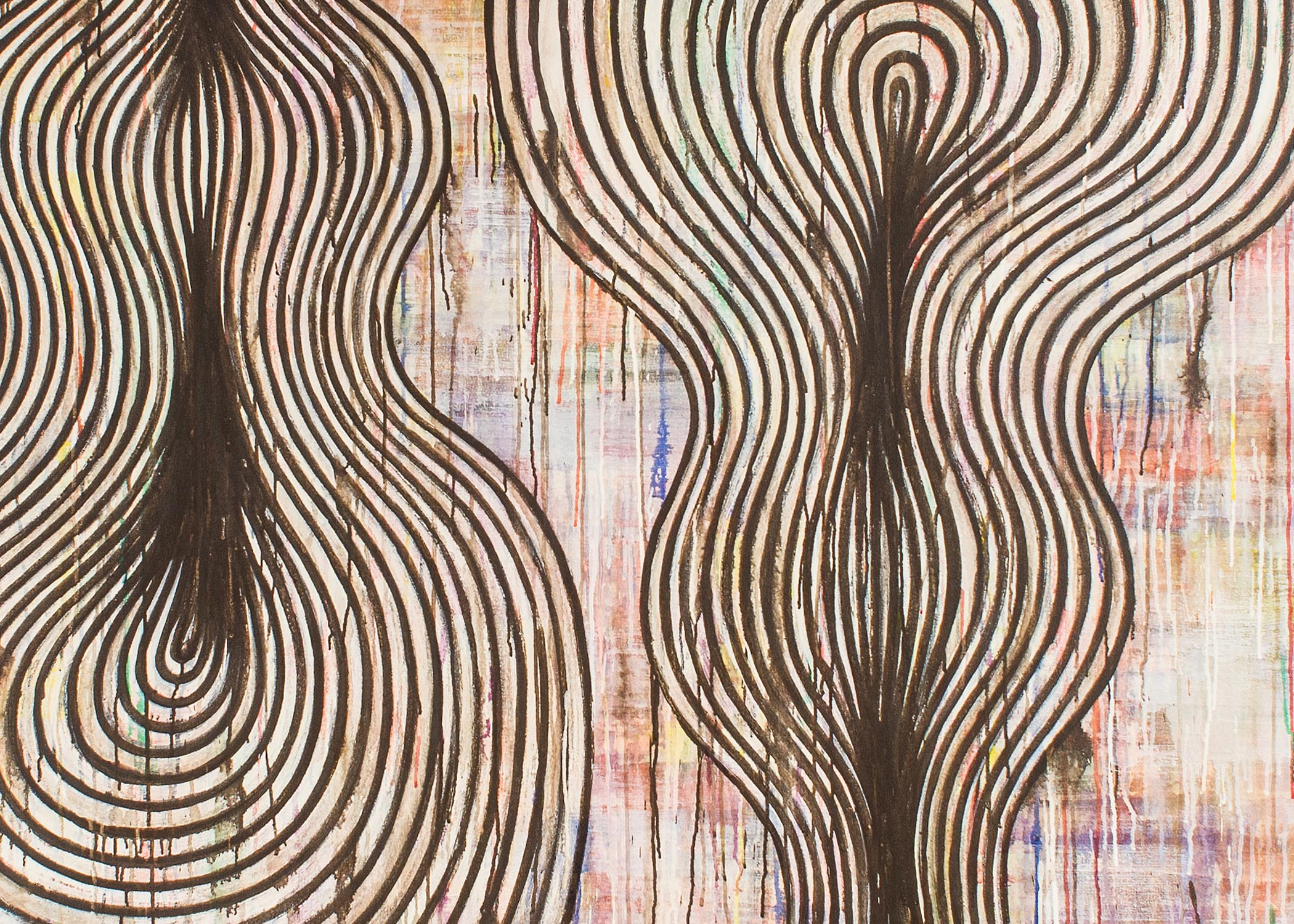 Steven Cushner, Echo #3 (detail), acrylic on canvas