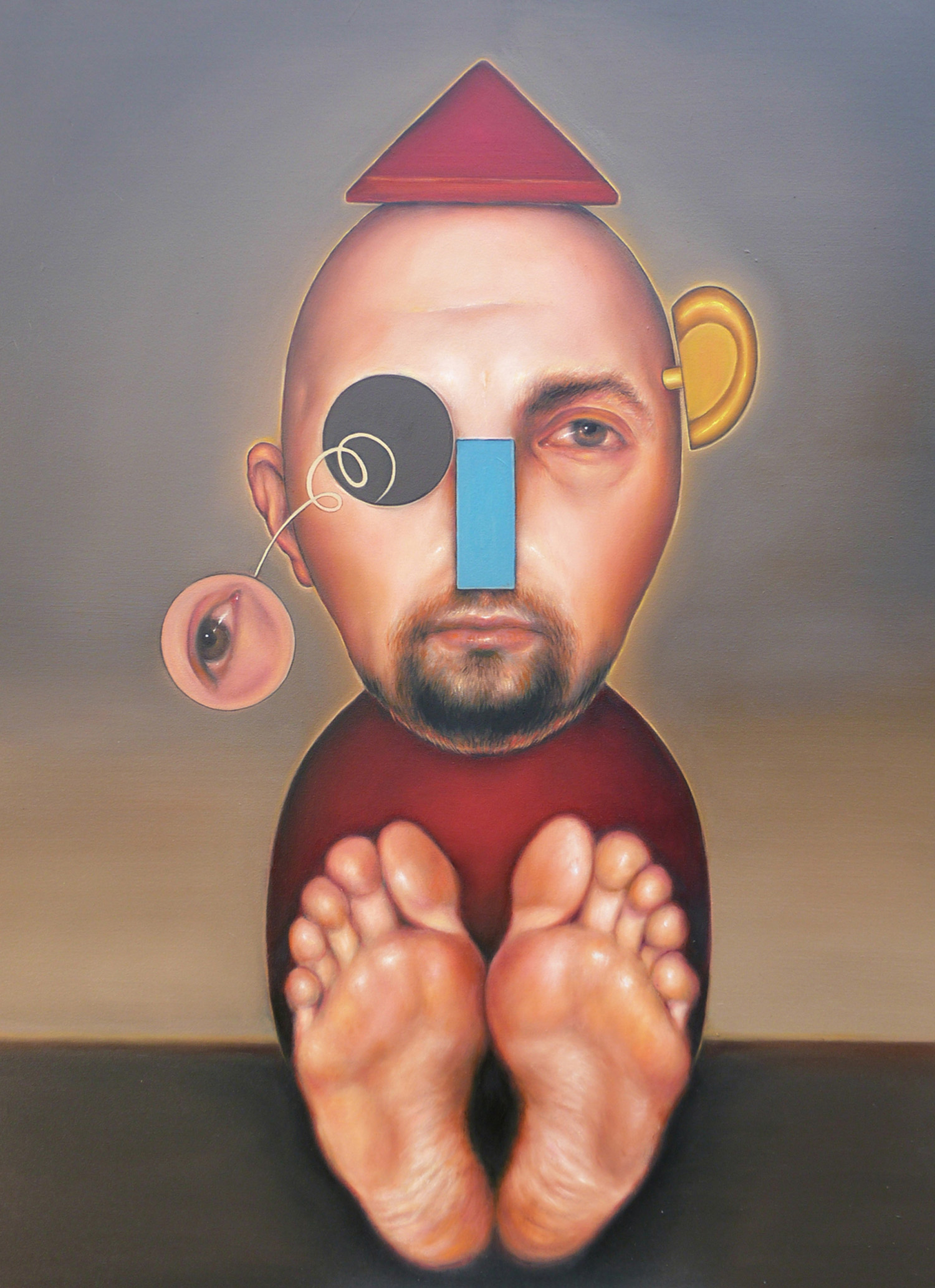 Veronica Jaeger, Red Marionette, 2012, oil on canvas.