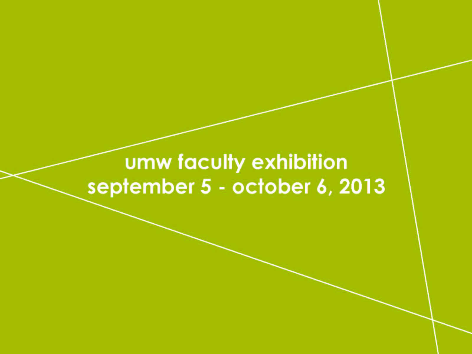 Faculty Exhibition 2013 Postcard Front