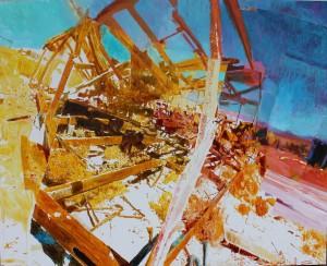 Miles Hall, Shruz, Nevada, oil on canvas