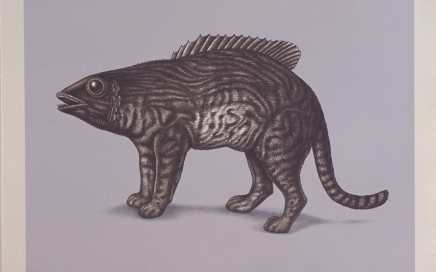 Beauvais Lyons, Micropterus Trichopilaris. Hand-printed lithograph.